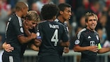 Toni Kroos celebra el 2-0 para el Bayern