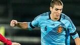 Oriol Romeu in Spain Under-21 action last season – before injury struck