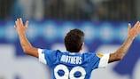Matheus celebrates scoring against Napoli on matchday three