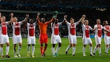 Ajax recorded their only home win in Europe this season against Manchester City