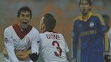 Gianni Bruno celebra su primer gol en la UEFA Champions League