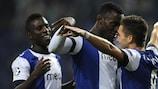 João Moutinho festeja o 2-0 para o FC Porto frente ao Dínamo