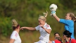 Action from Denmark and Norway's 0-0 Algarve Cup draw