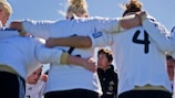 Germany coach Maren Meinert issuing instructions to her squad in La Manga last month