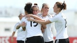 Germany celebrate going 1-0 up against Norway
