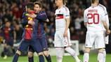 Les cartons du Barça au Camp Nou