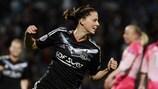 Lotta Schelin a inscrit deux buts pour Lyon ce weekend