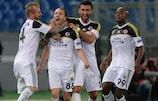 Caner Erkin celebra el tanto del equipo turco