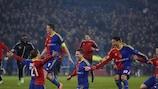 El Basilea celebra la victoria en los penaltis ante el Tottenham