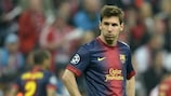 Serata difficile per Lionel Messi e compagni
