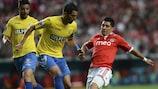 Steven Vitória in action for Estoril-Praia against Benfica last month