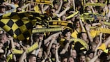 The 65,190 attendance in Dortmund is a qualifying record crowd
