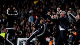 Jupp Heynckes e la panchina del Bayern festeggiano a Barcellona