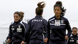 Patrizia Panico and Sara Gama, pictured training, are among Italy's finals squad