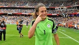 Nadine Angerer after winning UEFA Women's EURO 2013 with Germany
