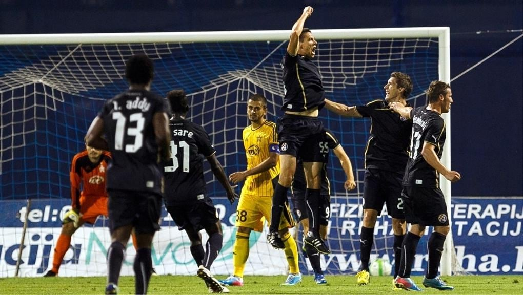 Rukavina Hands Dinamo Narrow Lead Uefa Champions League Uefa Com