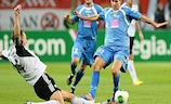 Legia defeated TNS (in blue) 4-1 on aggregate in the second qualifying round