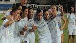 O Apollon festeja a vitória no Grupo 7 e a qualificação para os 16 avos-de-final