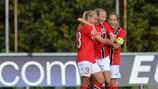 La Norvegia festeggia un gol in Galles durante le fasi finali 2013