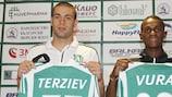 Ludogorets unveil new signings Georgi Terziev and Virgil Misidjan