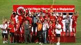 Skënderbeu jubelt über den Sieg im Superpokal
