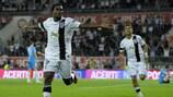 Vitória's Nii Plange celebrates his goal