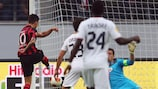Václav Kadlec scores the first goal of the group stage against Bordeaux