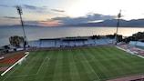 O ambiente no Estádio Kantrida em Rijeka