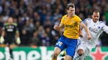 Daniel Braaten tussles with Stephan Lichtsteiner on matchday one