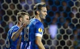 Wigan forward Nick Powell (No19) takes the acclaim after his first goal