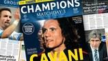PSG's Edinson Cavani adorns the cover of the matchday three issue