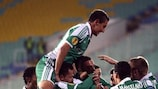 Ludogorets celebrate a Group B goal