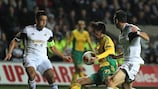 Kuban's Ivelin Popov in action in Swansea