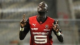 Tiemoué Bakayoko feiert sein einziges Tor in der Ligue 1 für Rennes