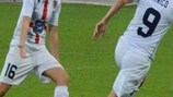 Torres' Patrizia Panico celebrates scoring the Italian side's second goal against Rossiyanka