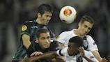 Betis' Caro rises highest to win the aerial battle against Guimarães