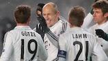 Arjen Robben hizo el primer gol del Bayern