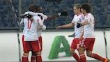 Sadio Mané celebra su primer gol de la noche