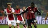 Ten-man Milan hold Ajax to edge into last 16