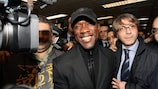 Clarence Seedorf arrives in Milan on Wednesday