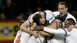 Zlatan Ibrahimović dopo il terzo gol