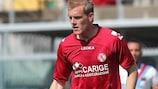 Martin Bergvold avec Livourne contre la Fiorentina