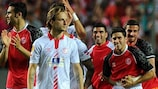 Sevilla players on 'incredible night'