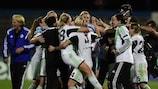 Wolfsburg celebrate victory in Lisbon