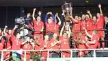 Debrecen celebrate their title triumph