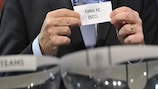 Celtic, one of two European Cup winners involved, are picked out during the second qualifying round draw