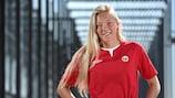 Synne Jensen played for Norway at last season's UEFA European Women's U19 Championship