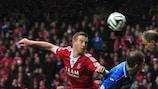 """Adam Rooney marcou o primeiro """"hat-trick"""" da UEFA Europa League em 2014/15"""