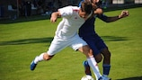 Action from the 2013 FIFPro tournament in Nyon