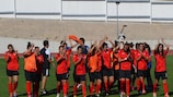Atlético Ouriense celebrate qualifying for the round of 32